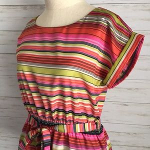 Banana Republic Tops - BANANA REPUBLIC striped belted blouse